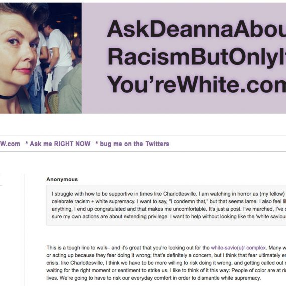 AskDeannaAboutRacismButOnlyIfYou'reWhite.com
